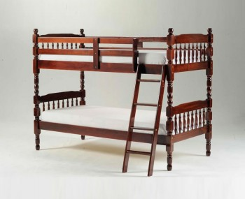 Meir Cherry Wooden Bunk Bed
