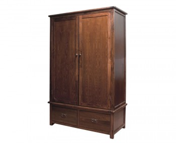 Nepal Dark 2 Door 2 Drawer Wardrobe