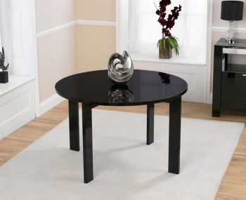 Newton Black High Gloss Round Dining Table