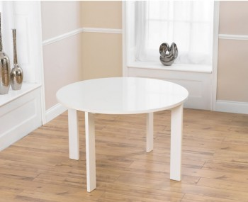 Newton White High Gloss Round Dining Table