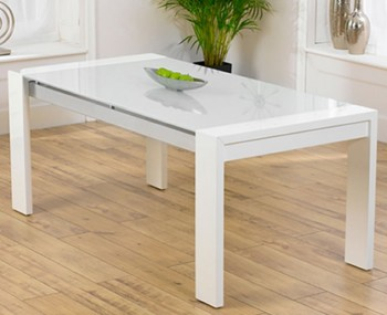 Newton White High Gloss Dining Table