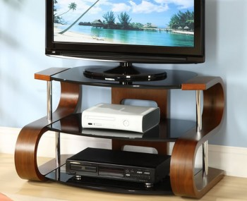 Scarlette Small 'S' Walnut TV Stand