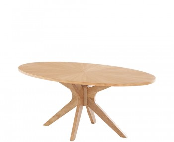 Laxa Oval Oak Dining Table