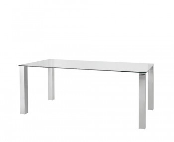Barletto Clear Glass Dining Table