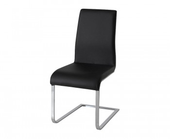 Barletto Black Faux Leather Dining Chairs