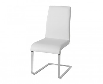 Barletto White Faux Leather Dining Chairs
