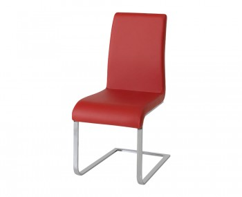 Barletto Red Faux Leather Dining Chairs