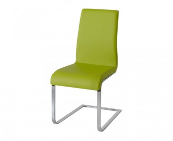Barletto Green Faux Leather Dining Chairs