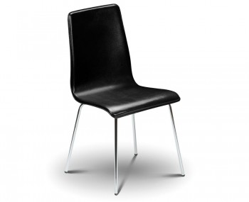 Mandy Black Faux Leather Budget Dining Chair
