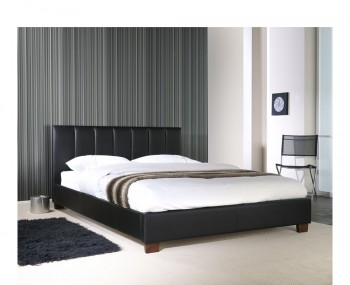 Tulipa Black Faux Leather Bed Frame