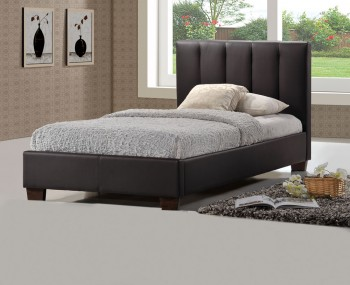 Tulipa Brown Faux Leather Bed Frame