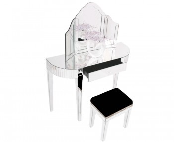 Berovo Single Mirrored Dressing Table