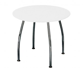 Dove Round White Breakfast Table