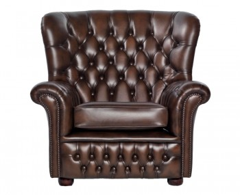 Marquette Brown Leather Arm Chair