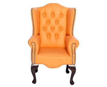 Amerigo Peach Faux Leather Childrens Chair