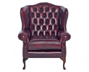 Amerigo Antique Red Leather Arm Chair