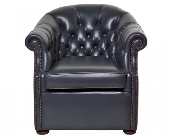 Vespucci Black Leather Tub Chair