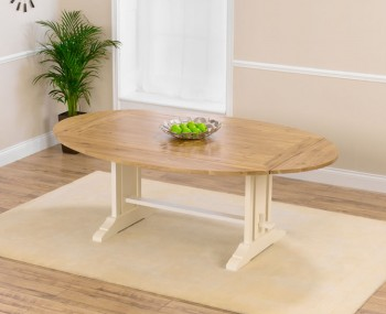 Bayside Cream And Oak Extending Dining Table