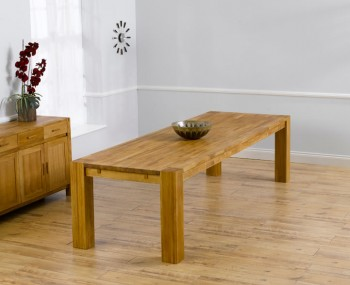 Madrid Oak Extending Dining Table