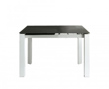 Anwick Small Grey Glass Extending Dining Table