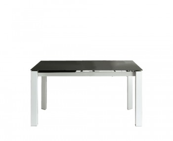 Anwick Medium Grey Glass Extending Dining Table
