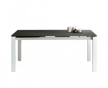 Anwick Large Grey Glass Extending Dining Table
