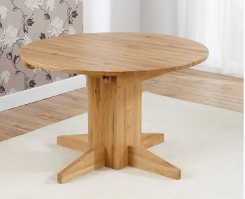 Mariana Oak Round Extending Dining Set