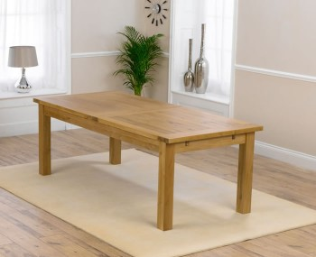 Aztec Oak Large Extending Dining Table