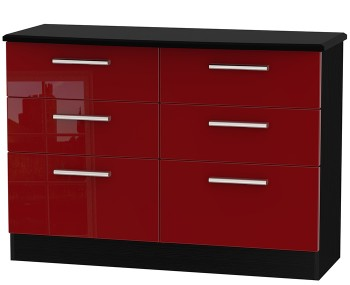 Danni Red Teens 6 Drawer Chest