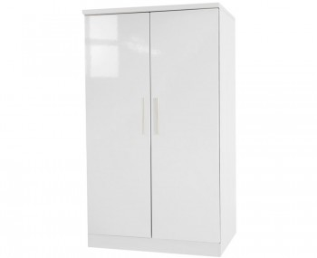 Queen White High Gloss Kids Wardrobe