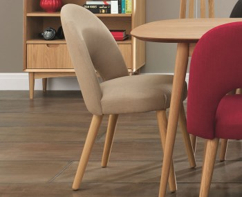 Orbit Stone Beige Upholstered Dining Chairs