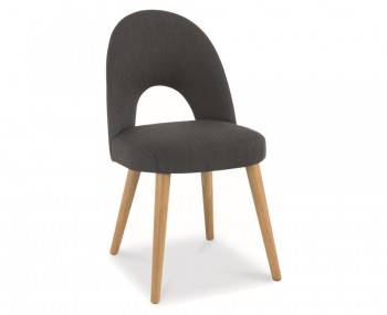 Orbit Steel Charcoal Upholstered Dining Chairs