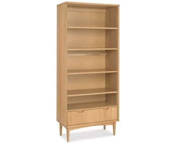 Orbit Oak Wide Bookcase