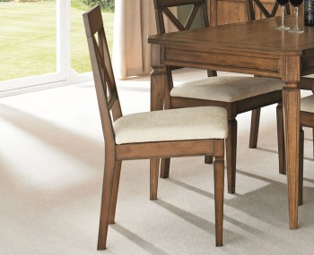 Sophia Oak X Back Dining Chairs