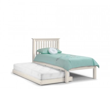 Cameo Off-White Wooden Guest Bed