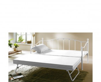 Monaco 3ft White Metal Day Bed