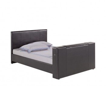 Baxter Brown Faux Leather TV Bed