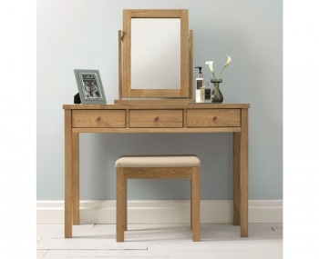 Atlanta Single Oak Dressing Table