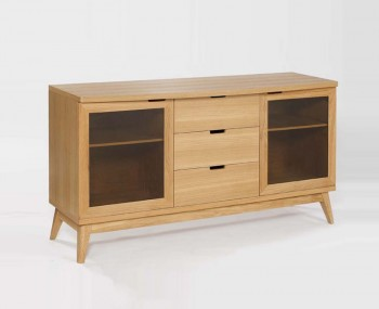 Fino Oak & Glass Sideboard