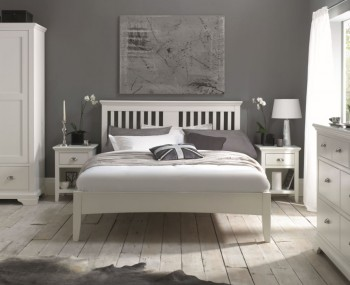 Hampstead White Bed Frame