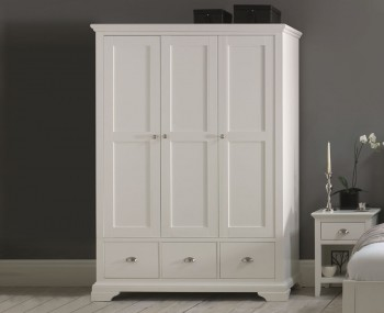 Hampstead White Triple Wardrobe