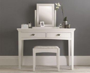 Hampstead Single White Dressing Table