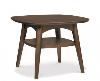 Oslo Walnut Lamp Table with Drawer
