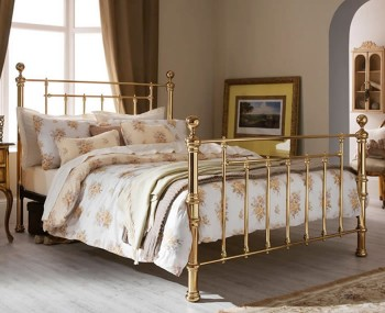 Benjamin Brass Metal Bed Frame