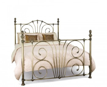 Jess Antique Brass Metal Bed Frame