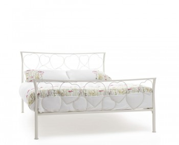 Chloe Ivory Metal Bed Frame
