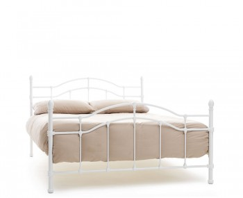 Paris White Metal Bed Frame
