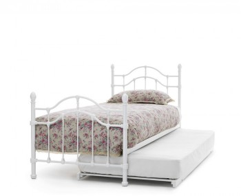 Paris White Metal Guest Bed