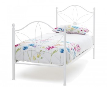 Daisy White Metal Bed Frame