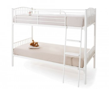 Oslo White Metal Bunk Bed